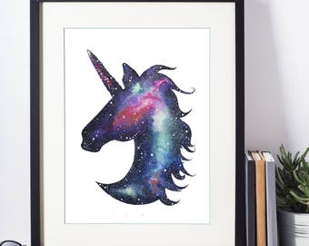 Unicorn Galaxy Print
