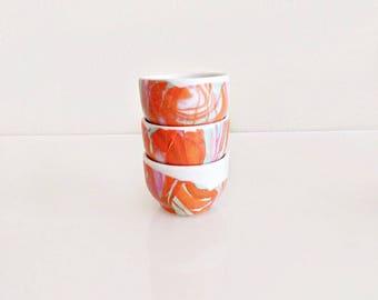 Sunrise Inspired Modern Ceramic Mini Bowls