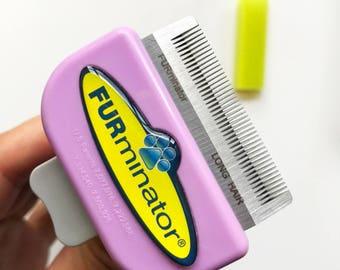 Furminator Deshedding Grooming Comb For Long Hair Cat - FREE Nailclipper