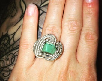 Size 5.5 Wire-Wrapped Ring
