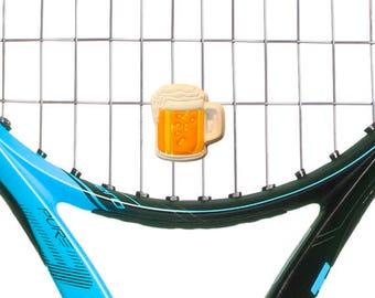 Beer Mug Tennis Vibration Dampener Racket Shock Absorber 2-Pack by Racket Expressions. Great tennis gift for men or women!