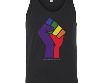 Rainbow Fist - LGBTQ - Tank Top