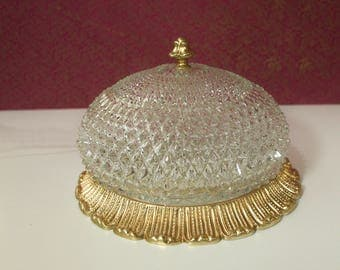 Fine Plafonnier lamp with crystal glass from Limburg. 1960s