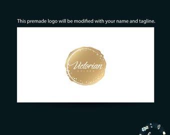 Premade Logo - Golden Custom logo - Custom Logo - Branding Custom logo - Logo Design - Branding Kit - Photography Logo - Branding Logo - 023