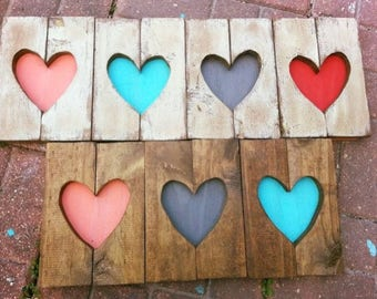 Heart Sign, Rustic Pallet Sign, Heart Decor, Rustic Heart Sign, Small Wooden Heart, Rustic Heart, Nursery Decor, Wood Heart, Rustic Wedding