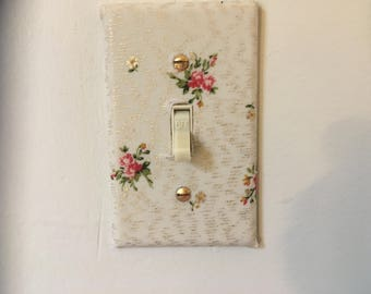 Floral fabric switchplate