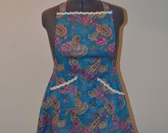 Handmade Teal Apron