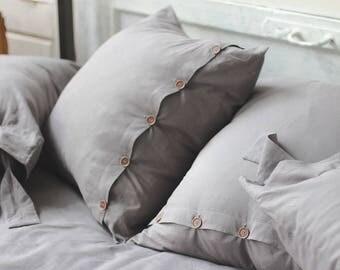 Pillow shams Linen pillow Linen pillow cover Linen pillow case Euro pillow Linen pillowcase Pillowcases Linen shams Rustic