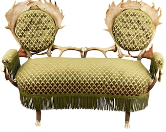 two seater antler settee, austria ca. 1880