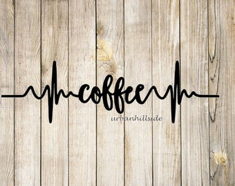 Coffee Heart Rate Decal