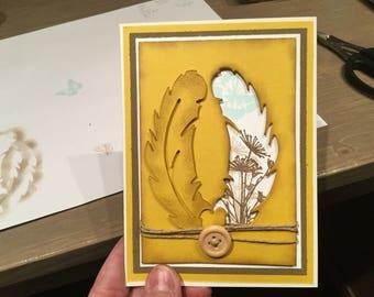 Set of five handmade cards