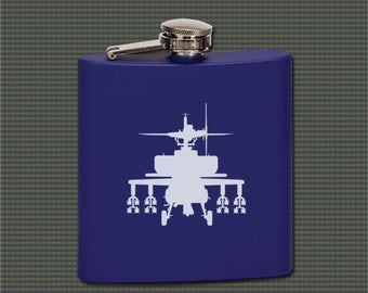 Stainless Steel Flask - Helicopter Designs