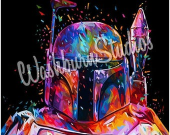 Star Wars Boba Fett Graphic Art Print