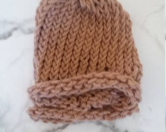 Fall Brown Baby Beanie Newborn