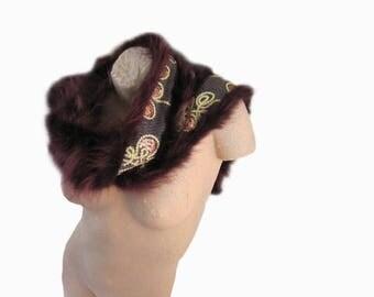 Fur scarf raccoon, Fellschal, Raccoonschal, scarf, stole, fur BOA, edge of the fur, fur, fur collar, Fox collar, Loopschal, fur edge, collar,