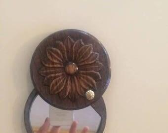 Handmade mirror- unique wooden mirror perfect gift vintage mirror woodwork