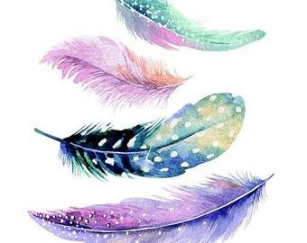 Feathers Cross Stitch Pattern