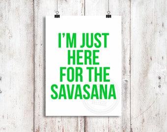 Savasana Vinyl Decal