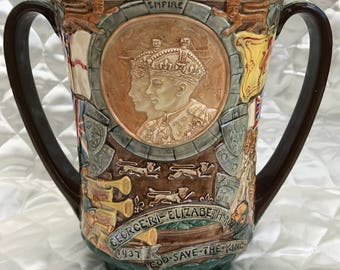 Royal Doulton George VI and Elizabeth Commemorative Coronation Cup