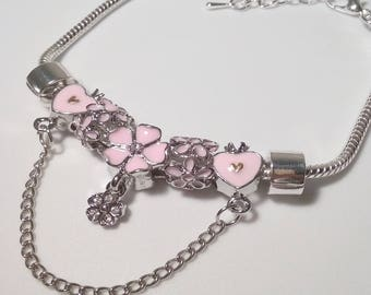 Flower Princess Charm Bracelet