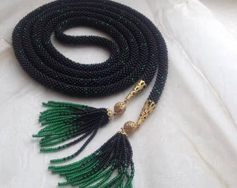 Lariat Beadwork Necklace