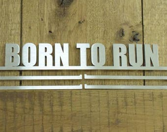 Medal Hanger Display 'Born To Run' Stainless Steel 2.0