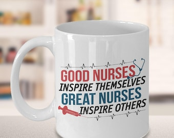 nursing student, nursing school, nursing graduation, school nurse, nurse appreciation, message mug, gift for her, Christmas, great nurses