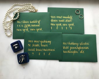 Modern Wedding Envelope Calligraphy