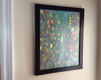 Original Painting Abstract Painting Abstract Art Floral Abstract Painting Bright Cheery Framed Ready To Hang