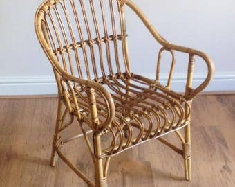 Vintage Rattan,wicker chair - excellent vintage condition