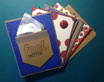 Greeting Card Set - Get Well Cards - Set of 5 Designs
