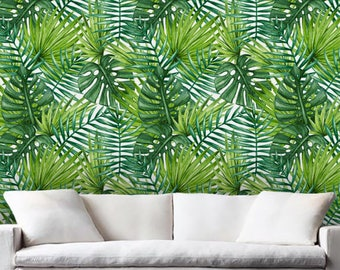 Removable wallpaper/Wallpaper/Peel and Stick/Self adhesive wallpaper/Temporary wallpaper /Modern Wallpaper /Flora  patern A029A