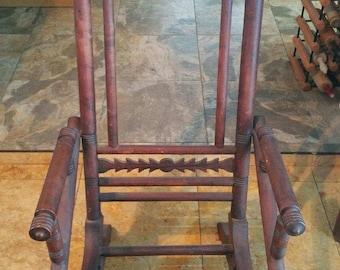 Wooden Platform rocker / spring rocking chair