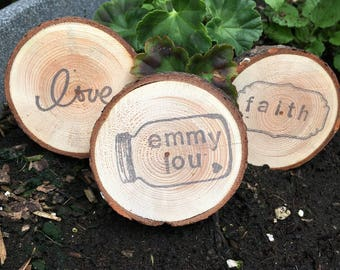 Rustic Wood Cookie Magnets
