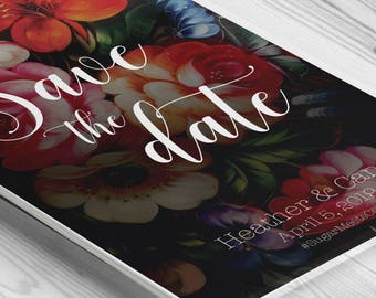 Printable Save The Dates Floral Invitation | Save Our Date Printable invites | Save the Date Card | Save the date wedding invitation