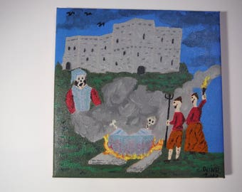Lord Soulis Boiled Alive By Peasants For Witchcraft.