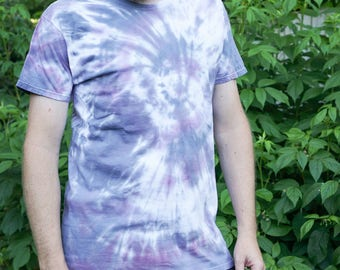 Blue and Purple Galaxy Spiral Tie Dye Large