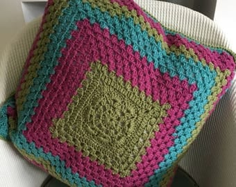 Crocheted Cushion Cover. Ready to post