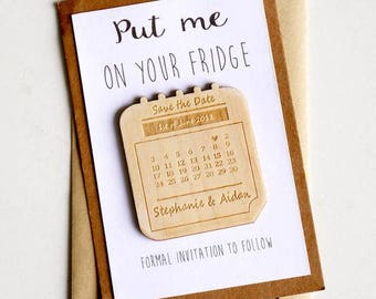 Wooden Save the Date Magnets set of 10