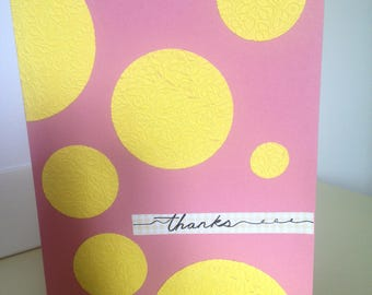 Thank You handmade Card - any occasion