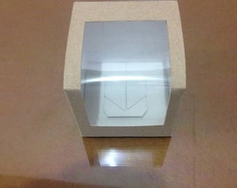 Boxes for biscuits, sweets, desserts window of acetate (50 PCs)