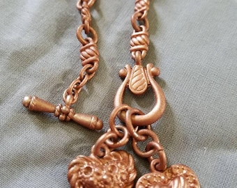 Rose gold painted silver necklace