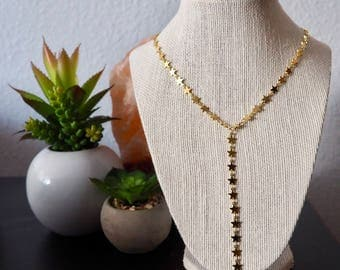 Star lariat necklace, star y necklace, starry night lariat