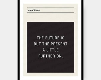 Jules Verne Quote Wall Art Digital Download
