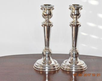 A pair of sterling  silver 925  vintage candlesticks