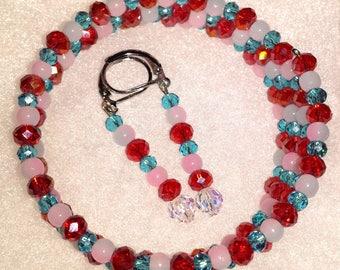 Buddy Beads Memory Wire Wrap Bracelet with Earrings