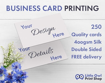Business Card Printing | 250 Business Cards | Business Card Design | Printed Business Cards | UK Business Cards | Business Stationery