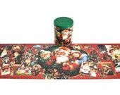 Christmas Santa Puzzle 700 Pieces Holiday Jigsaw Puzzles For Adults Antique Christmas Post Cards Santa Claus Tin, AMG Trading Corp 1990s