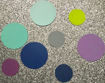 50 paper cut out circles- select color and size