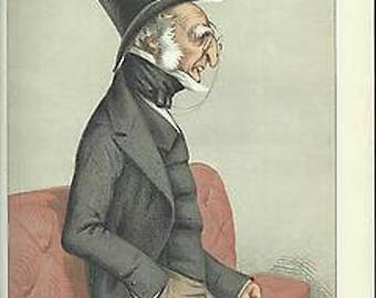 Vanity Fair 1871 print Statesmen No 81 The Earl of Harrowby K.G.